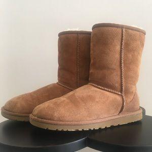 UGG Short Boots, Chestnut, Size 6.